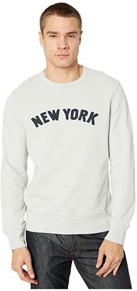J.Crew Classic French Terry New York Graphic Sweatshirt (Warm Pearl) Men's Clothing