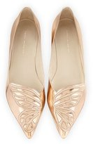 Sophia Webster Bibi Butterfly Embroidered Flat, Gold
