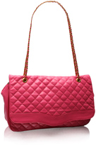 Oversized Bright Quilted Chain Shoulder Bag