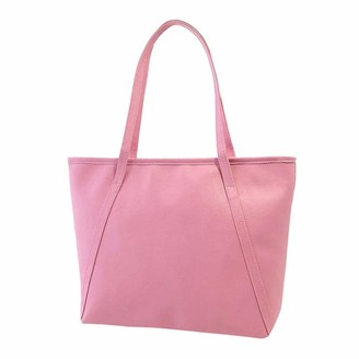JMNyxgs Ladies Large Capacity Tote Durable Shoulder Bags Casual Backpack Work Handbags School Daypack Laptop Bags for School Shopping Travel Outdoors Work for Women Girls Teenagers Pink