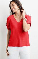 J. Jill Lightweight Dolman-Sleeve Sweater