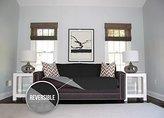 The Original SOFA SHIELD Reversible Furniture Protector, Features Elastic Strap (Sofa: Black/Gray)