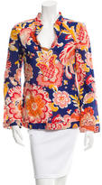 Tory Burch Floral Sequin-Embellished Tunic