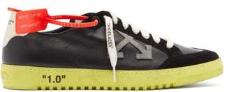 Off-White Off White 2.0 Low Top Leather Trainers - Mens - Black Multi