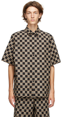Burberry Black and Beige Check Trulo Shirt