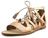 Elie Tahari Tsunami Women Open Toe Leather Pink Slides Sandal.