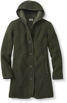 L.L. Bean Women's Kingfield Fleece Coat, Hooded