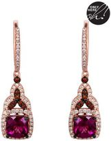 LeVian 14 Kt. Strawberry Gold Rhodolite Diamond Drop Earrings
