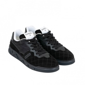 Chanel Black Suede Trainers