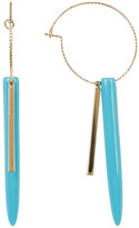 Cara Accessories Turquoise Spike Hoop Earrings