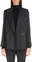 Acne Studios Janny Double Breasted Pinstripe Wool Blazer
