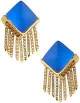 Alexis Bittar Fringe Pyramid Clip-On Earrings