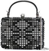 Alexander McQueen studded box clutch - women - Leather/Metal (Other) - One Size