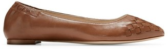 Cole Haan Carina Woven Leather Ballet Flats