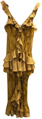 For Love & Lemons Yellow Lace Dress for Women