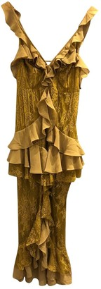 For Love & Lemons Yellow Lace Dresses