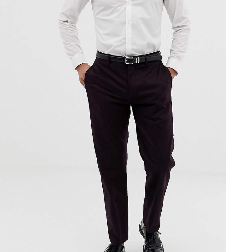 Religion Skinny Cropped Trouser In Burgundy