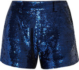 Ashish Sequined cotton shorts