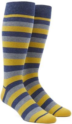Tie Bar Varios Stripe Yellow Dress Socks