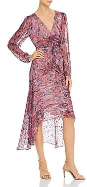Parker Priscilla Silk-Blend Printed Ruched Dress