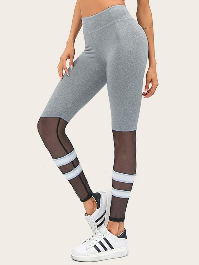 9962fbf469d6 Mesh Stripe Leggings - ShopStyle