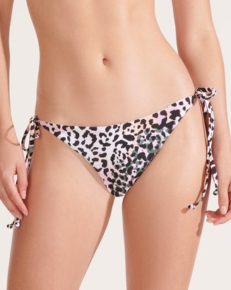 Veronica Beard Gavitella Leopard String Bikini Bottom
