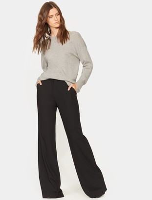 Halston Wide Leg Wool Pant