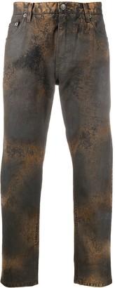 Dolce & Gabbana Bleached-Effect Straight-Leg Jeans