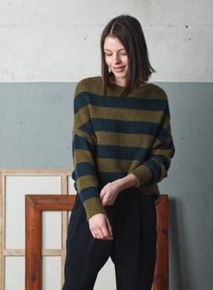 Indi & Cold - Two-Tone Stripes Alpaca Mix Jumper - Size XS