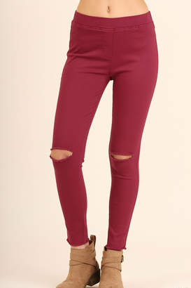 Umgee USA Distressed Knee Jegging