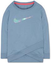 Nike Dri-fit Crossover Logo Sweatshirt, Little Girls (4-6X)