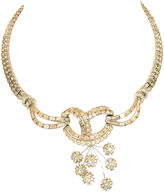 One Kings Lane Vintage Jomaz Floral Crystal Necklace