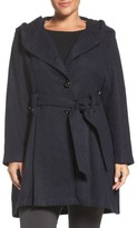 Steve Madden Plus Size Women's Drama Hooded Coat