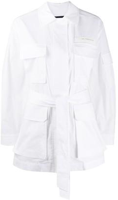 Juun.J Multi-Pocket Belted Jacket