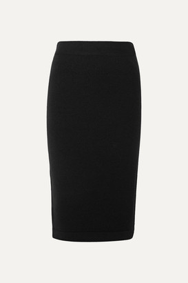 Tom Ford Ribbed Cashmere-blend Pencil Skirt - Black