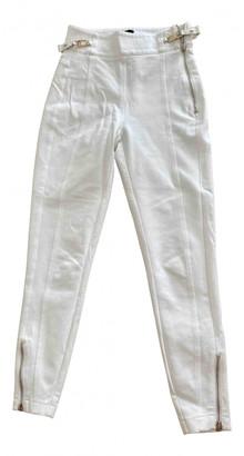 Elisabetta Franchi White Cloth Trousers