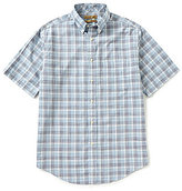 Roundtree & Yorke Gold Label Big & Tall Short-Sleeve Buffalo Plaid Non-Iron Sportshirt