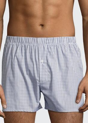 Hanro Men's Fancy Woven Cotton Boxers