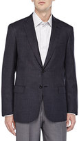 Brioni Micro Check Two-Button Jacket,