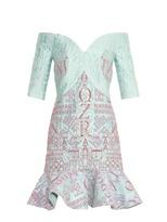 Mary Katrantzou De Bau jacquard and glitter dress