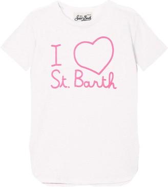 MC2 Saint Barth I Love Saint Barth Embroidered Linen T-shirt