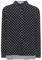 Stella McCartney Polka-dot And Striped Silk Blouse
