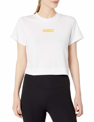 Spalding Women's Varsity Short Sleeve Crop Top Tee