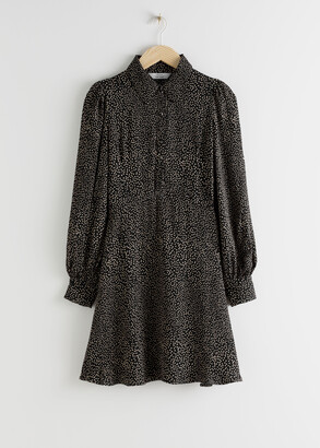 And other stories Printed Mini Shirt Dress