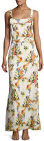 Haute Hippie Floral-Print Overall Silk Gown, Multi