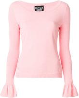 Moschino frill cuff jumper - women - Polyester/Viscose - 38