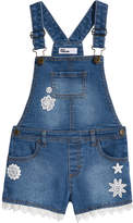 Epic Threads Crochet-Trim Denim Shortalls, Little Girls, Created for Macy's