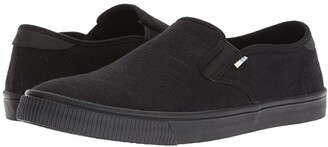 Toms Baja (Black/Black Heritage Canvas) Men's Slip on Shoes