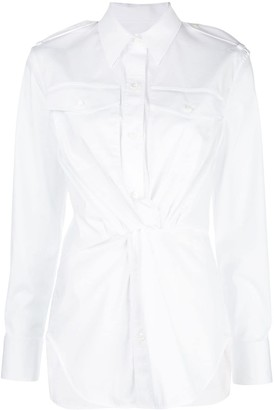 Helmut Lang Twist Front Longline Shirt