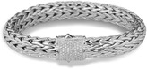 John Hardy Women's Classic Chain 10.5MM Bracelet in Sterling Silver with Diamonds